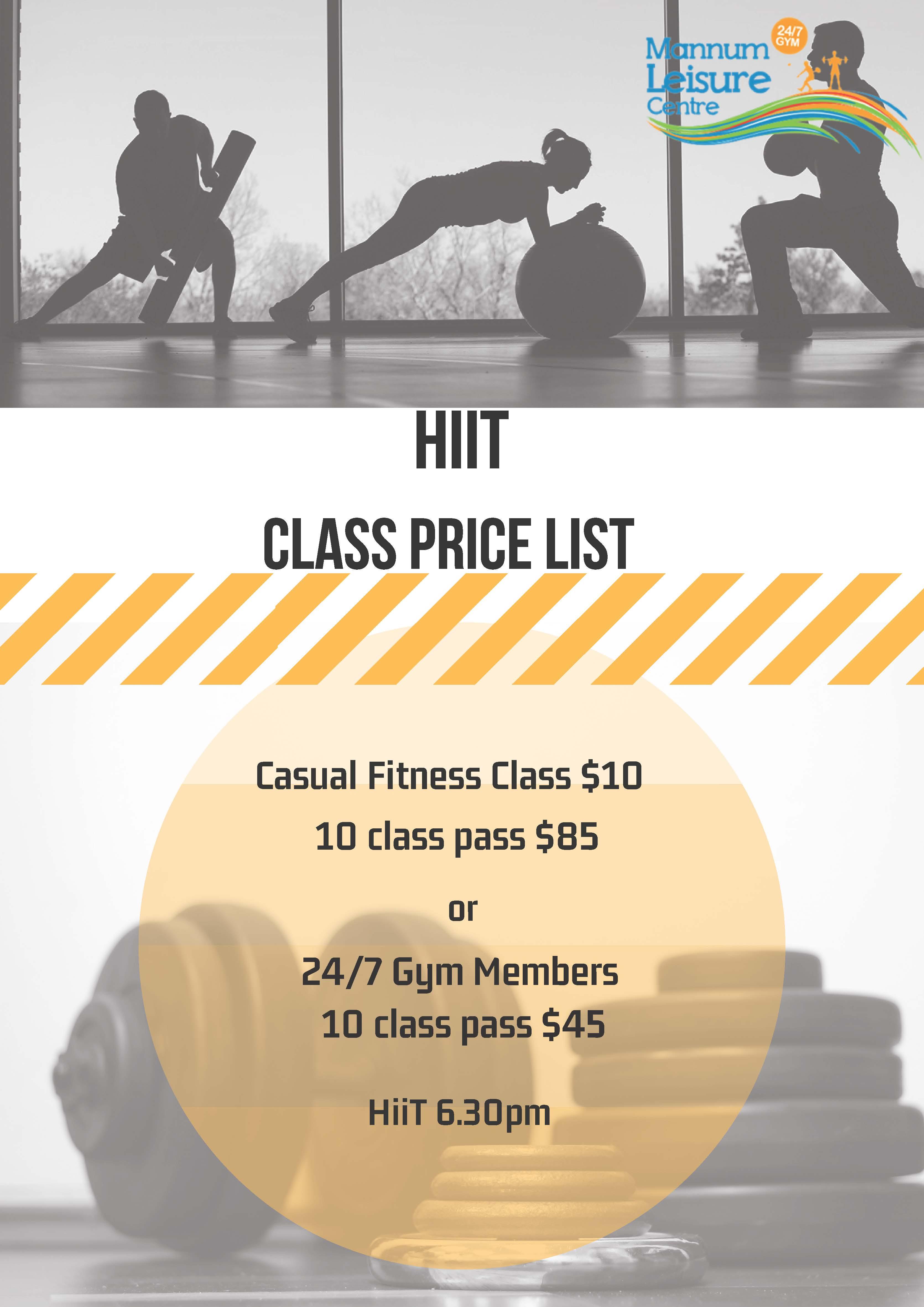 Class Price List 2