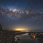 River Night Sky