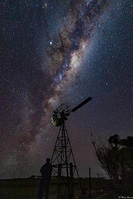 Night Sky Windmill