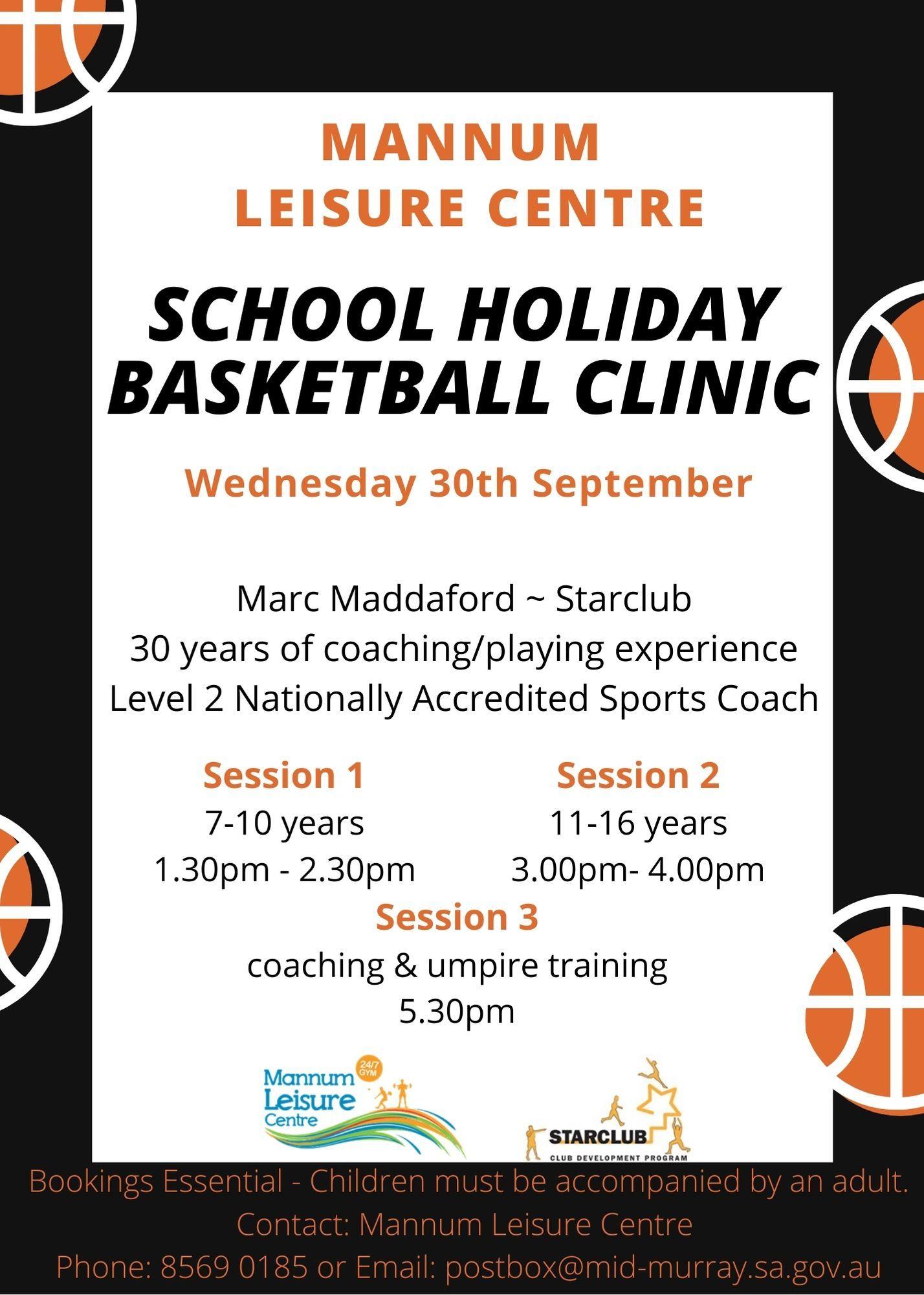 School Holiday Basketball Clinic