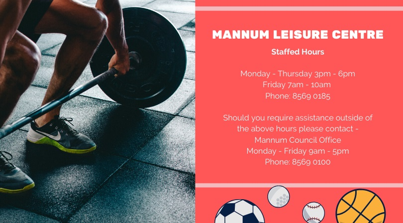 Mannum Leisure Centre Staffed Hours